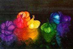 garlic paintings